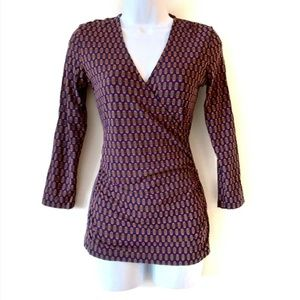 Boden Jersey Knit Wrap Top Size 4
